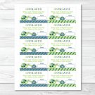 Mod Green Turtle Mom And Baby Printable Baby Shower Diaper Raffle Tickets #A126
