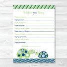 Mod Green Turtle Mom And Baby Printable Baby Shower Wishes For Baby Advice Cards #A126