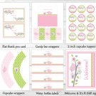 Sweet Baby Bird Printable Baby Shower Party Package #A266