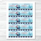 Pirate Monkey Nautical Whale Printable Baby Shower Diaper Raffle Tickets #A287
