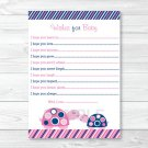 Mod Pink Turtle Mom And Baby Printable Baby Shower Wishes For Baby Advice Cards #A286
