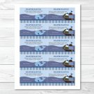Ahoy Mate Nautical Whale Monkey Printable Baby Shower Diaper Raffle Tickets #A171