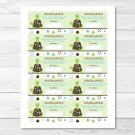 Mod Turtle Frog Pond Pals Printable Baby Shower Diaper Raffle Tickets #A274