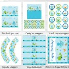 Under The Sea Octopus Crab Whale Nautical Printable Birthday Party Package #A316