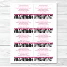 Pink Sassy Zebra Print Printable Baby Shower Book Request Cards #A223