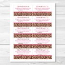 Pink Cheetah Print Printable Baby Shower Diaper Raffle Tickets #A251