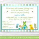 Frog Turtle Duck In The Pond Printable Baby Shower Invitation Editable PDF #A158