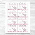 "Pink Gray Polka Dot Elephant Printable Baby Shower ""Guess How Many?"" Game Cards #A160"