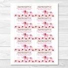 Pink Polka Dot Elephants Printable Baby Shower Diaper Raffle Tickets #A188