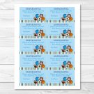 Sports Football Baseball Soccer Printable Baby Shower Diaper Raffle Tickets #A119