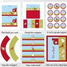 Farm Animals Printable Baby Shower Party Package #A313