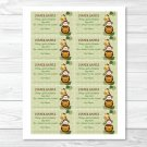 Jungle Animals Safari Friends Printable Baby Shower Diaper Raffle Tickets #A169