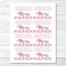 Pink And Gray Polka Dot Elephant Printable Baby Shower Book Request Cards #A160