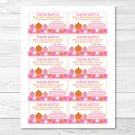 Pink Pumpkin Fall Harvest Printable Baby Shower Diaper Raffle Tickets #A337