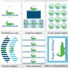 Preppy Alligator Printable Birthday Party Package #A302