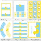 Rubber Duck Printable Birthday Party Package #A345