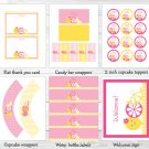 Pink Lemonade Printable Birthday Party Package #A303