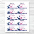 Pink Crab Nautical Under The Sea Printable Baby Shower Diaper Raffle Tickets #A121