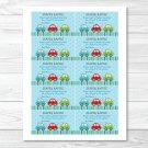 Colorful Cars Printable Baby Shower Diaper Raffle Tickets #A263