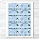 Lil Aviator Airplane Printable Baby Shower Diaper Raffle Tickets #A112
