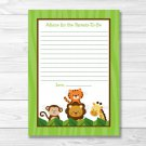 Jungle Safari Printable Baby Shower Mommy Advice Cards #A336