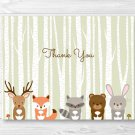 Woodland Animals Thank You Card Printable #A191