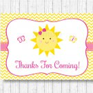 You Are My Sunshine Party Favor Thank You Tags #A261