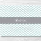 Green Chevron Thank You Card Printable #A364