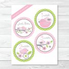 Baby Bird Monthly Milestone DIY You Print PDF Stickers & Iron On Transfers #A266