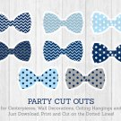 Bow Tie Baby Shower Party Cutouts Decorations Printable #A369