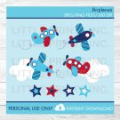 Airplane Stars & Stripes Clipart #A155