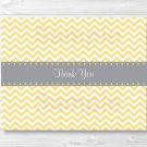 Yellow Chevron Thank You Card Printable #A356