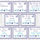 Lavender Butterfly Garden Baby Shower Table Signs - 8 Printable Signs #A218