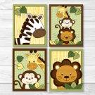 Safari Jungle Animal Nursery Wall Art Printable #A169