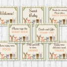 Woodland Animals Baby Shower Table Signs - 8 Printable Signs #A191