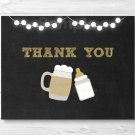 BaByQ Baby Is Brewing Beer & BBQ Thank You Card Printable #A371