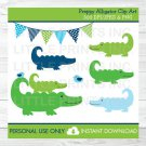 Preppy Alligator Clipart #A157
