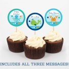 Blue Under The Sea Nautical Printable Cupcake Toppers Party Favor Tags #A237