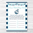Nautical Anchor Name That Baby Food Baby Shower Game Printable #A222