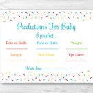 Baby Sprinkle Rainbow Blue Baby Shower Baby Predictions Game Cards Printable #A386