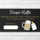 BaByQ Chalkboard Baby Is Brewing BBQ Printable Baby Shower Diaper Raffle Tickets #A371