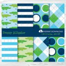 Preppy Alligator Argyle Digital Paper #A157
