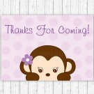 Purple Monkey Party Favor Thank You Tags #A388