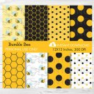 Bumble Bee Digital Paper #A134