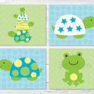 Turtles & Frogs Pond Pals Printable Nursery Wall Art #A148