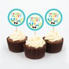 Boys Pool Party Cupcake Toppers Party Favor Tags Printable #A343