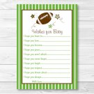 Football All Star Printable Baby Shower Wishes For Baby Advice Cards #A110