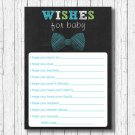 Bow Tie Chalkboard Printable Baby Shower Wishes For Baby Advice Cards #A382