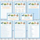Transportation Car Sailboat Plane Baby Shower Games Pack - 8 Printable Games #A111