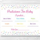 Pink Baby Sprinkle Baby Shower Baby Predictions Game Cards Printable #A357